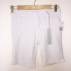 Girls Tractr White Stretchy Bermuda Shorts Size 14